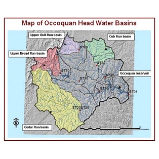 Map of Occoquan headwater basin
