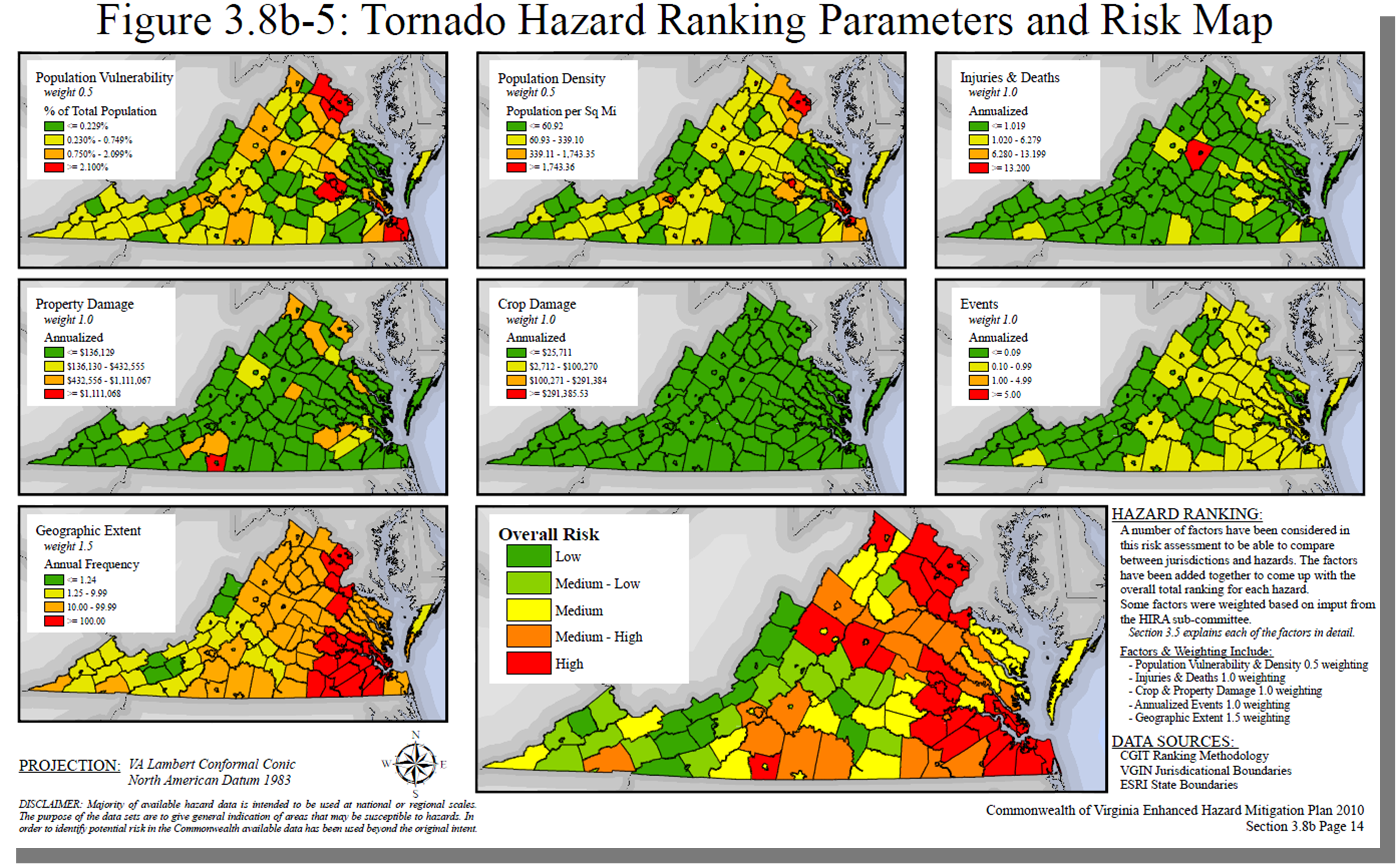Virginia Hazard Mitigation Risk Analysis Output